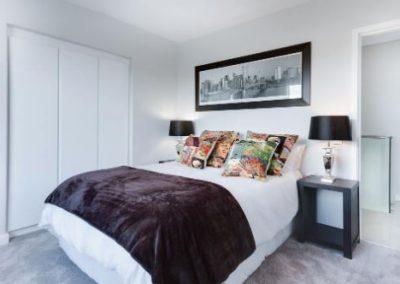 bedroom painted white in fort wayne