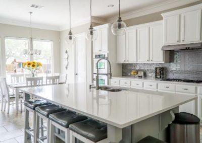 modern white kitchen cabinets in fort wayne